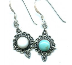Boucle d'oreille argent pierre/pendante