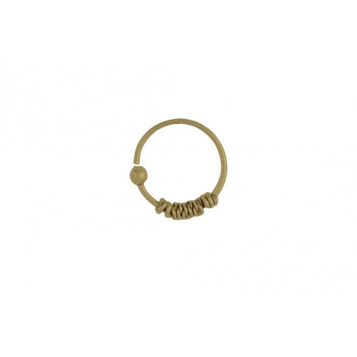 Boucle d'oreille argent/piercing 10mm/doré