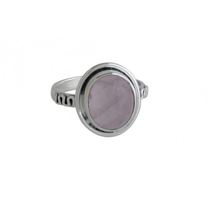 Bague argent pierre quartz rose