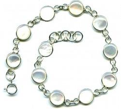 Bracelet argent pierre/nacre/rond