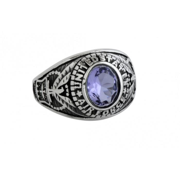 Steel ring/Purple CZ