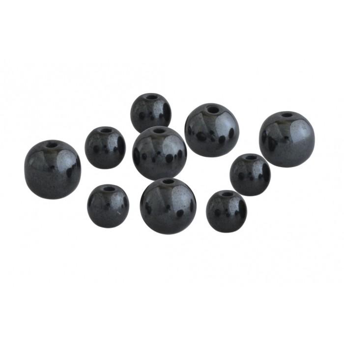 Hématite 2 trous/6 et 8 mm