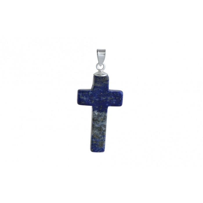 Pendentif argent pierre/croix