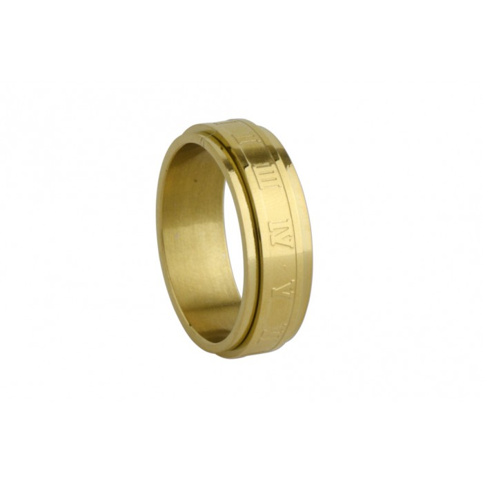 steel ip gold ring/anti-stress/8mm