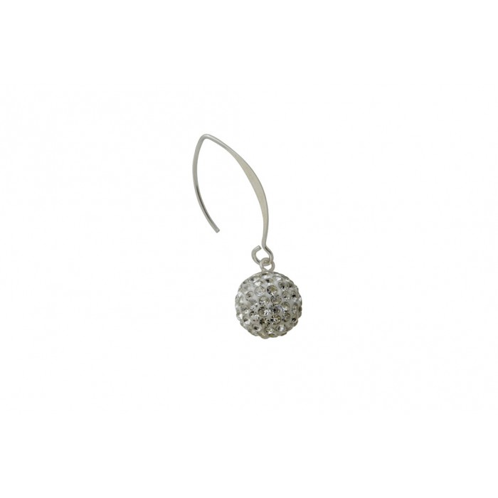 Boucle d'oreille argent pierre/férido ball+résine époxy