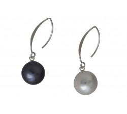 Boucle d'oreille argent/perle 10,12,14mm
